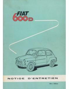 1964 FIAT 600 D BETRIEBSANLEITUNG FRANZÖSISCH
