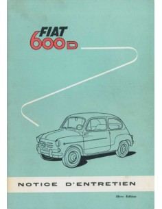 1964 FIAT 600 D OWNERS MANUAL FRENCH