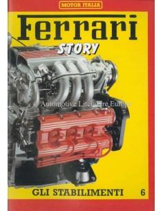 1986 FERRARI STORY GLI STABILIMENTI MAGAZINE 6 ENGLISCH / ITALIENISCH
