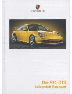 2003 PORSCHE 911 GT3 HARDCOVER BROCHURE GERMAN