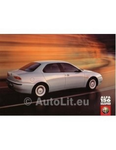 1999 ALFA ROMEO 156 2.0 SELESPEED LEAFLET NEDERLANDS