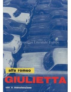 1961 ALFA ROMEO GIULIETTA BETRIEBSANLEITUNG ITALIENISCH