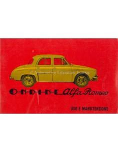 1960 ALFA ROMEO ONDINE BETRIEBSANLEITUNG ITALIENISCH