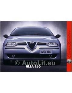 1997 ALFA ROMEO 156 INTRO BROCHURE NEDERLANDS