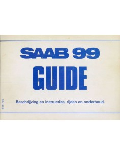 1978 SAAB 99 OWNERS MANUAL DUTCH