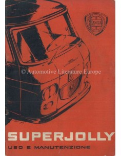 1963 LANCIA SUPERJOLLY INSTRUCTIEBOEKJE ITALIAANS