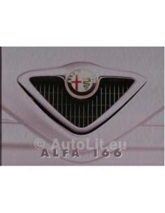 1998 ALFA ROMEO 166 HARDCOVER PROSPEKT NIEDERLANDISCH
