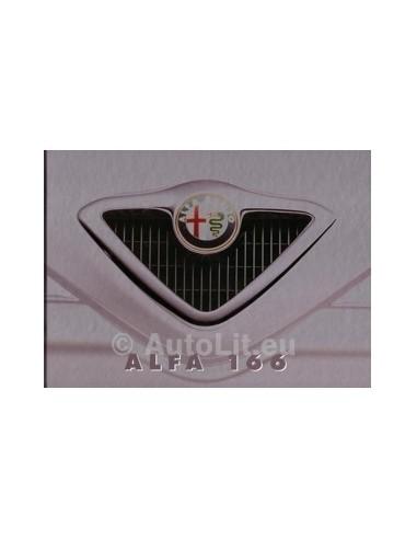 1998 ALFA ROMEO 166 HARDCOVER BROCHURE NEDERLANDS