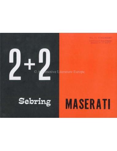 1964 MASERATI SEBRING COUPE 2+2 SERIES 1 BROCHURE