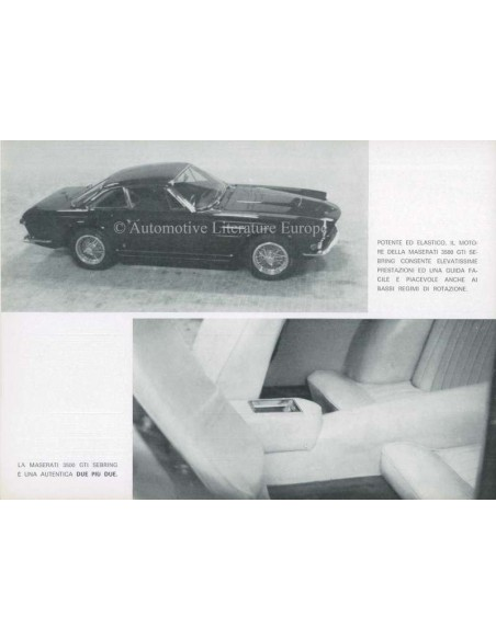 1964 MASERATI SEBRING COUPE 2+2 SERIES 1 BROCHURE