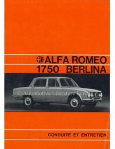 1971 ALFA ROMEO 1750 BERLINA BETRIEBSANLEITUNG FRANZÖSISCH