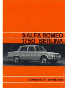 1971 ALFA ROMEO 1750 BERLINA OWNERS MANUAL FRENCH