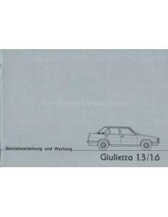 1978 ALFA ROMEO GIULIETTA OWNERS MANUAL GERMAN