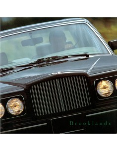1992 BENTLEY BROOKLANDS BROCHURE ENGLISH