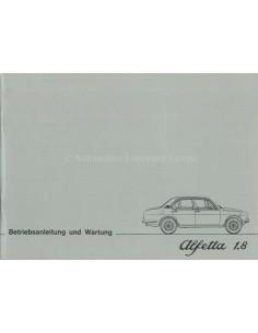 1976 ALFA ROMEO ALFETTA 1.8 OWNERS MANUAL GERMAN
