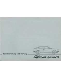 1977 ALFA ROMEO ALFASUD SPRINT OWNERS MANUAL GERMAN