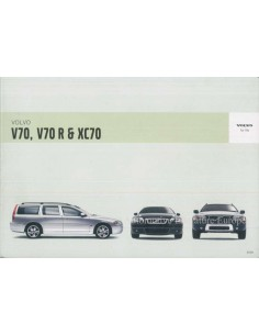 2005 VOLVO V70 R & XC70 INSTRUCTIEBOEKJE NEDERLANDS