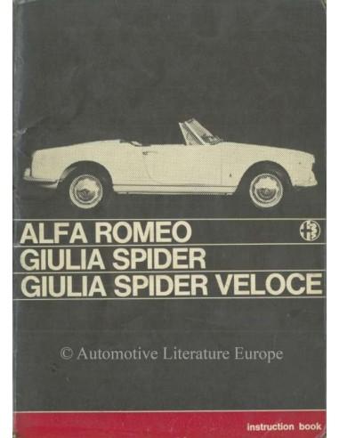 1965 ALFA ROMEO GIULIA SPIDER VELOCE ENGLISH