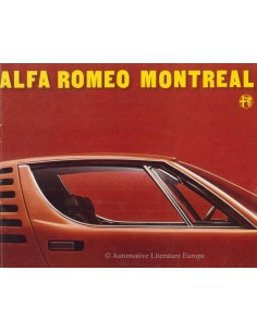 1973 ALFA ROMEO MONTREAL BROCHURE DUTCH