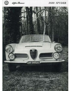 1962 ALFA ROMEO 2600 SPYDER PRESS PHOTO