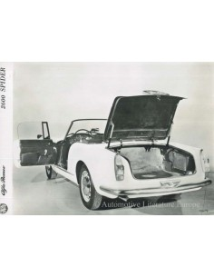 1963 ALFA ROMEO 2600 SPYDER PRESS PHOTO