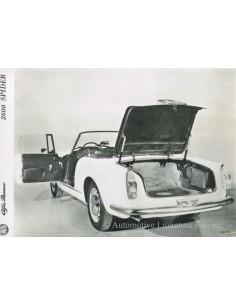 1963 ALFA ROMEO 2600 SPYDER PRESSE BILD