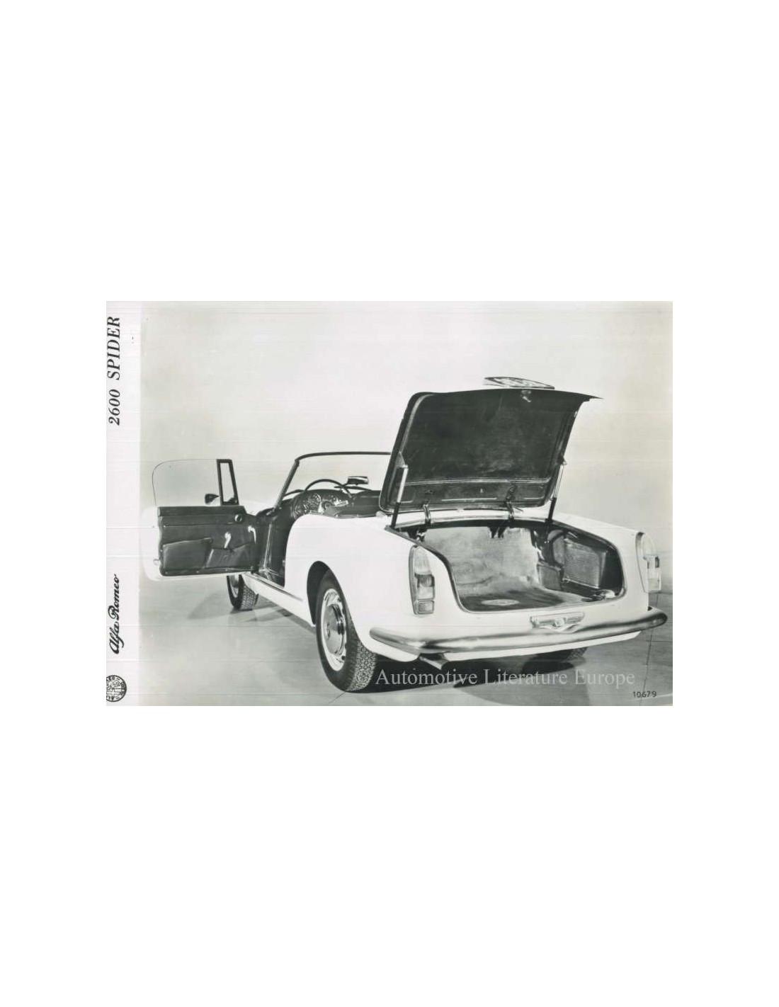 1963 ALFA ROMEO 2600 SPYDER PRESS PHOTO