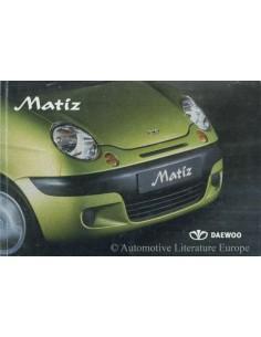 2003 DAEWOO MATIZ BETRIEBSANLEITUNG NIEDERLÄNDISCHNDISCH
