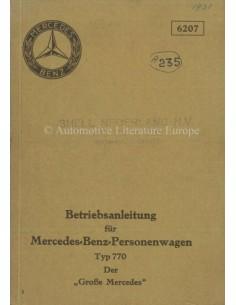 1931 MERCEDES BENZ TYPE 770 INSTRUCTIEBOEKJE DUITS