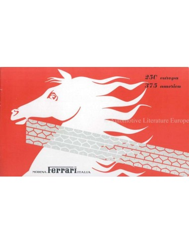 1955 FERRARI 250 EUROPA 375 AMERICA BROCHURE ITALIAN