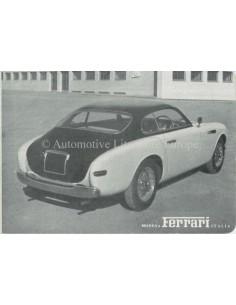 1951 FERRARI 166 MILLEMIGLIA BROCHURE ITALIAANS