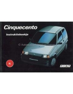 1994 FIAT CINQUECENTO INSTRUCTIEBOEKJE NEDERLANDS