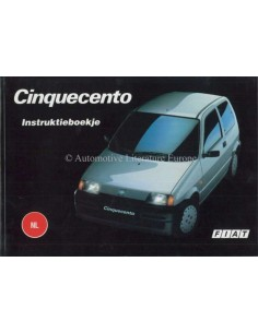 1994 FIAT CINQUECENTO OWNERS MANUAL DUTCH