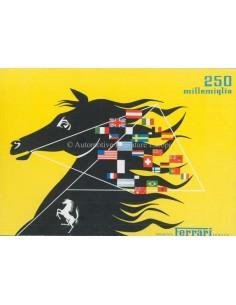 1953 FERRARI 250 MILLEMIGLIA BROCHURE ITALIAANS