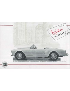 1956 LANCIA AURELIA SPIDER GT 2500 BROCHURE FRENCH