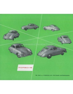 1954 PORSCHE 356 BROCHURE GERMAN