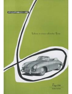 1955 PORSCHE 356 CABRIOLET DATENBLATT DEUTSCH