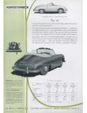 1955 PORSCHE 356 CABRIOLET LEAFLET GERMAN