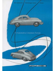 1955 PORSCHE 356 COUPE LEAFLET GERMAN
