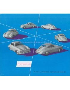 1953 PORSCHE 356 PROSPEKT DEUTSCH