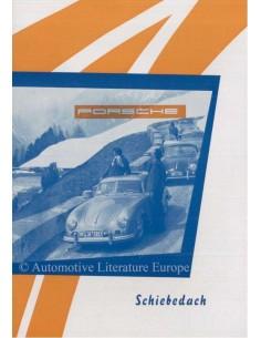 1953 PORSCHE 356 SCHIEBEDACH BROCHURE GERMAN