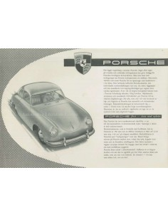1954 PORSCHE 356 COUPE LEAFLET SWEDISH