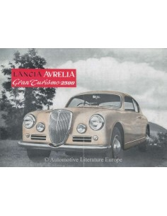 1955 LANCIA AURELIA GRAN TURISMO 2500 BROCHURE ENGLISH