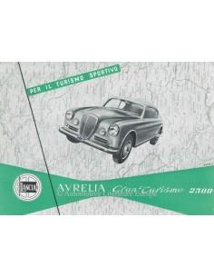 1953 LANCIA AURELIA GRAN TURISMO 2500 BROCHURE ITALIAANS