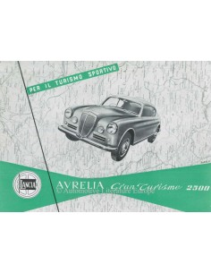 1953 LANCIA AURELIA GRAN TURISMO 2500 BROCHURE ITALIAN