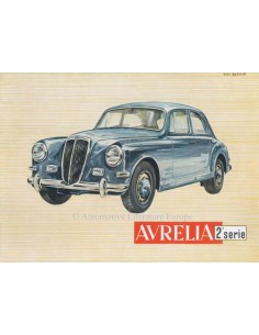 1955 LANCIA AURELIA BERLINA BROCHURE ENGLISH