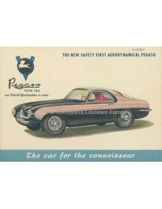 1954 PEGASO 102 B BS TOURING BROCHURE ENGLISH