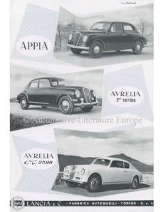1954 LANCIA APPIA & AURELIA BROCHURE ENGELS