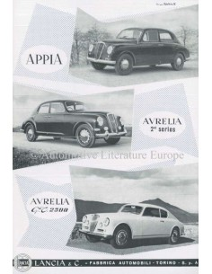 1954 LANCIA APPIA & AURILIA BROCHURE ENGLISH