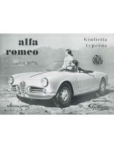 1957 ALFA ROMEO GIULIETTA BROCHURE SWEDISH